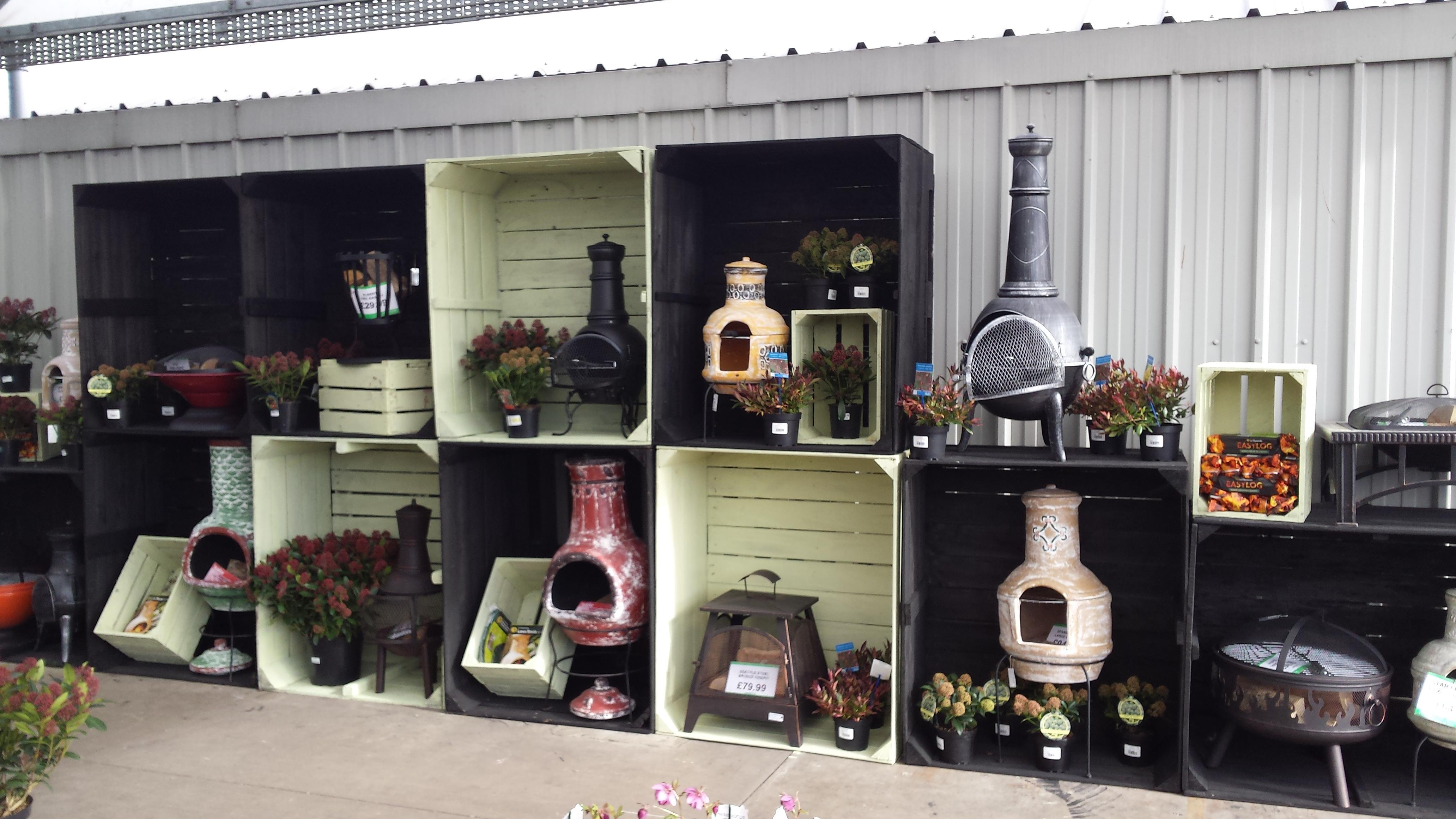 New range of fire burners and chimineas